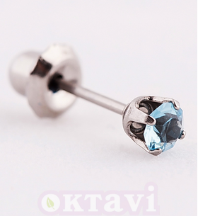Серьги Aquamarine Tiffany March - St Steel (173)
